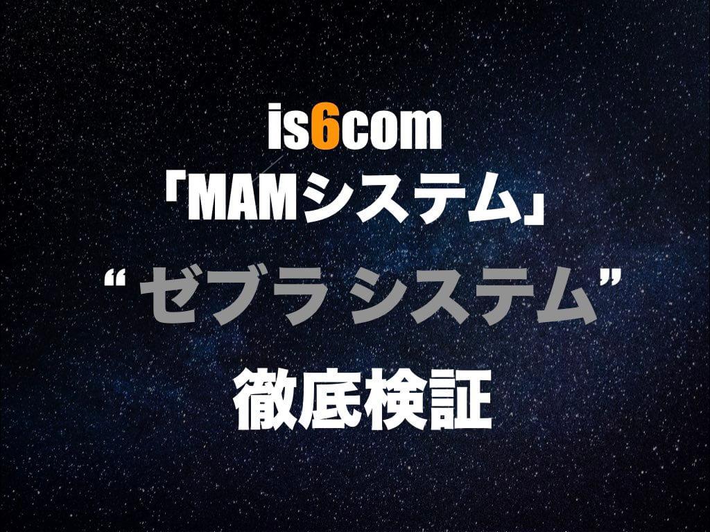 is6comで人気No.1SYSTEMのゼブラについて徹底検証
