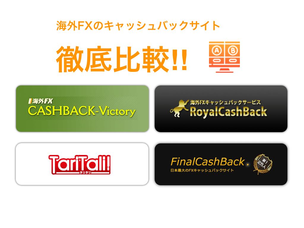 【2021年最新版】FX海外FXのキャッシュバックサイトを徹底比較!!