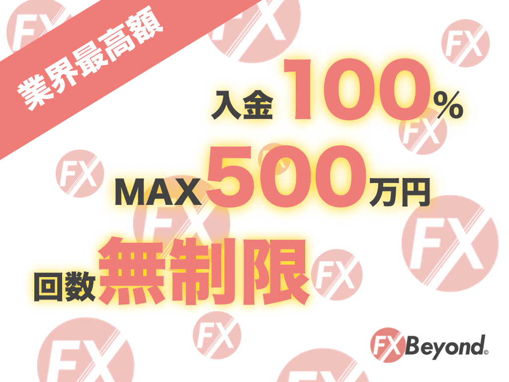 【業界最高額】FX Beyond100%入金ボーナスキャンペーン開催中!期間限定ボーナスをお得にGETするチャンス
